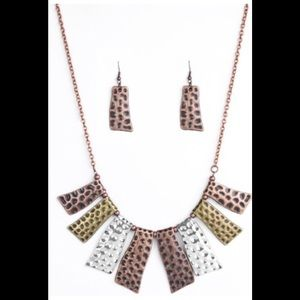 Jewelry - Statement Necklace with Matching Earrings -NWT
